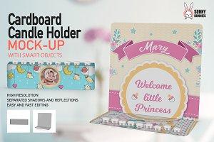 Cardboard Candle Holder 2 PSDMock-up