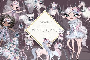 Winter Fairy Clipart