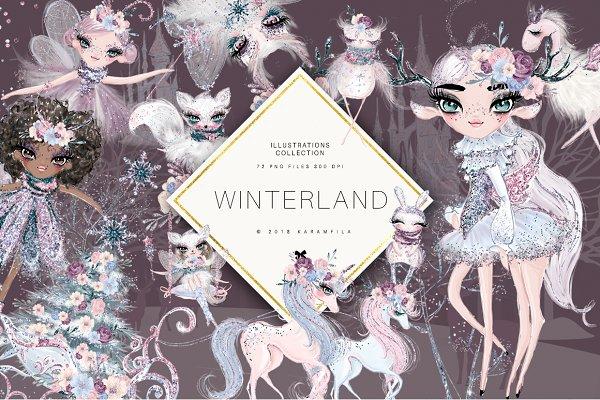 Winter Fairy Clipart