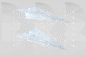 Paper texture plane. Aeroplane