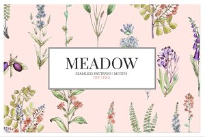 Meadow Seamless Patterns