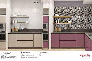 Wall Mockup Kitchen Scene SM18