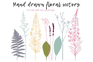 Fern, lavender, grasses & flowers