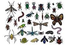 33 Hand Drawn Vector Bug Doodles
