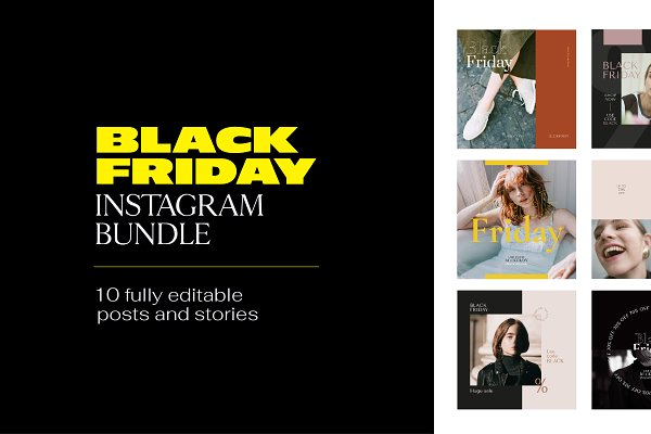 Social Media Templates: Ormai - Instagram Bundle - BLACK FRIDAY