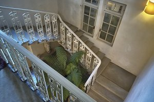 The vintage staircase