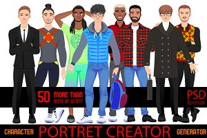 Character portrait creator MAN (PSD)