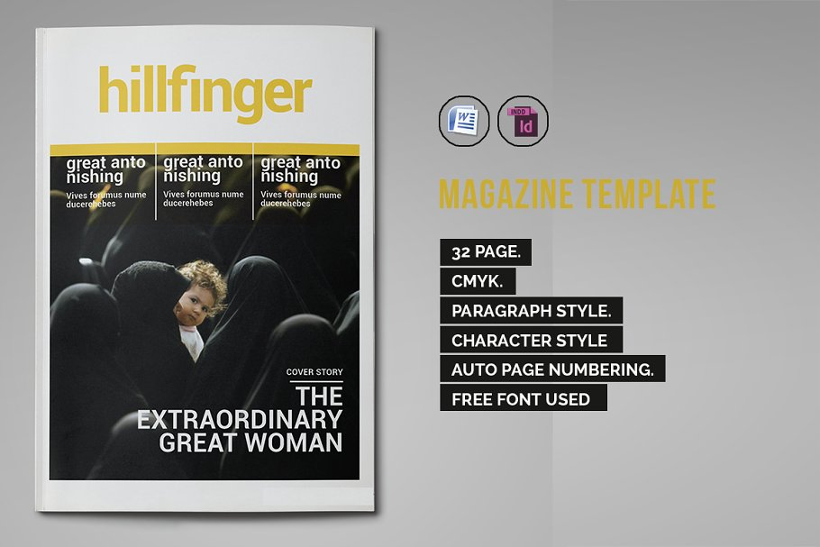 Indesign Magazine Template 2 Magazine Templates Creative Market