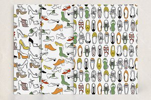 Vector seamless shoes pattern