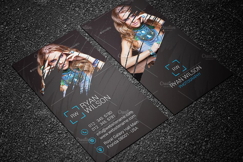 photography business card 68 business card templates. Black Bedroom Furniture Sets. Home Design Ideas