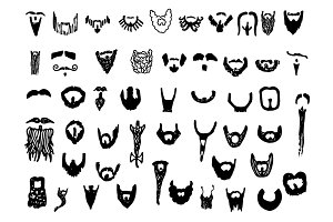 51 Hand Drawn Beard Doodles