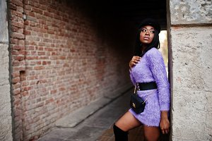 African american woman at violet dre