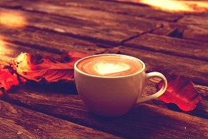 morning Cup of latte or cappuccino