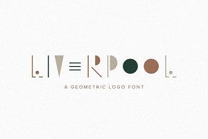 Liverpool | A Geometric Logo Font