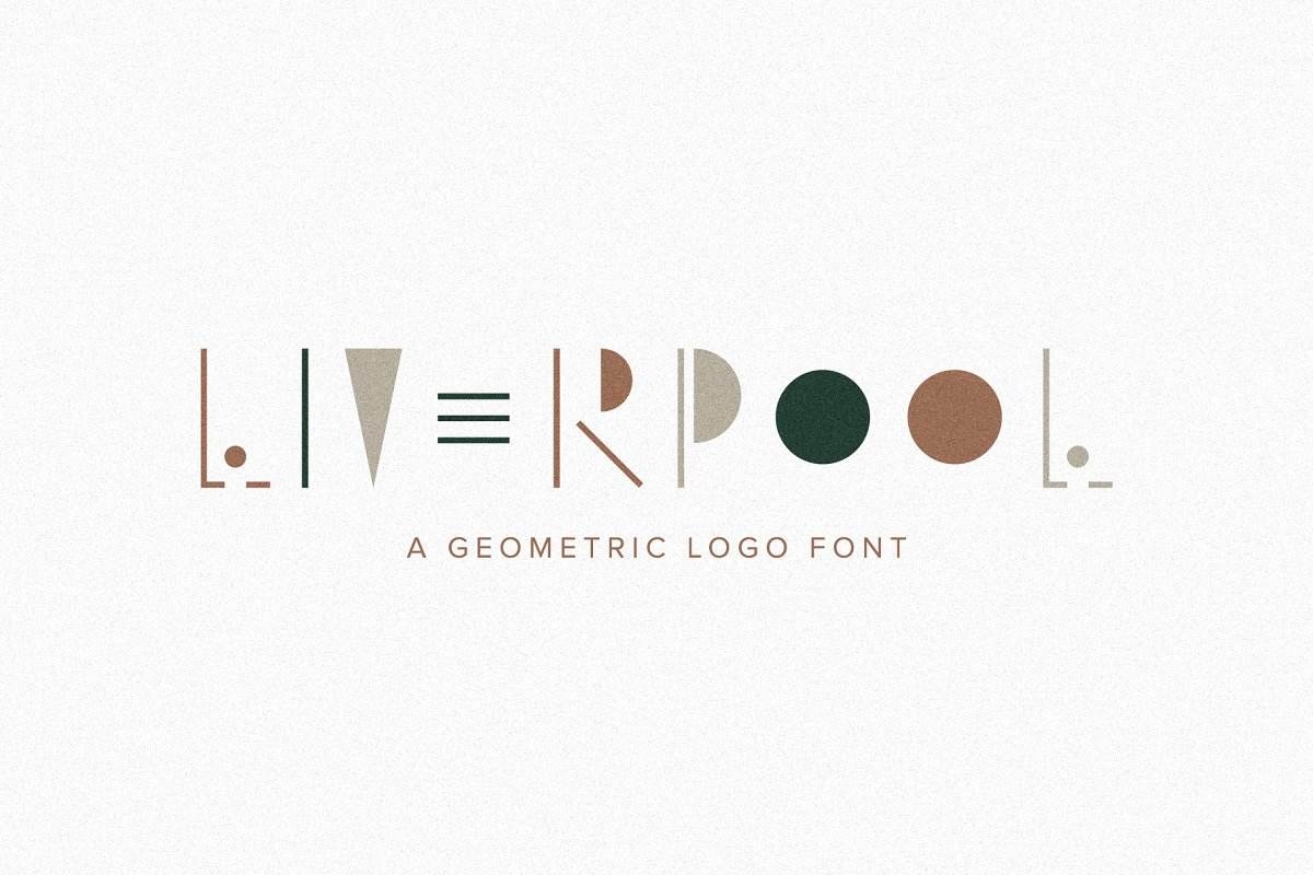 Liverpool | A Geometric Logo Font ~ Display Fonts ~ Creative
