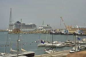 Ships on the port of Civitavecchia