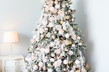 Christmas tree with white and light by  in Holidays