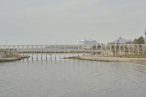 The pier of civitavecchia