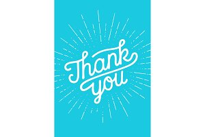 Thank You, Hand lettering Thank You