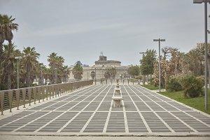 A walkway to Civitavecchia