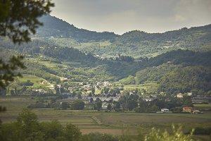 Landscape of the Euganean Hills