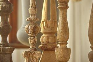 Wooden candelabras
