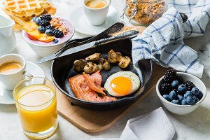 Breakfast and lunch concept -