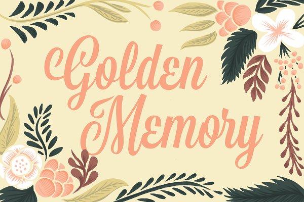 Fonts: Golden Doodle Fonts - Golden Memory