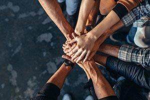 Symbol of teamwork, cooperation