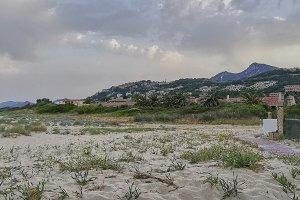 The panorama of Costa Rei.