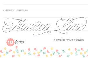 Nautica Line 10 fonts - 50% off