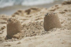 The sand castle.