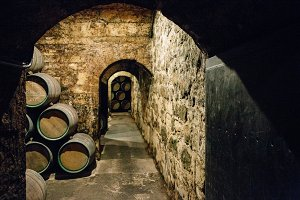 Old wine cellar corner