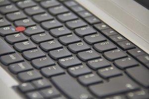 The electronic keyboard of the compu
