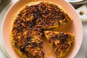 savory salty  Upside-Down pie from w