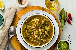 gluten free green minestrone with ca