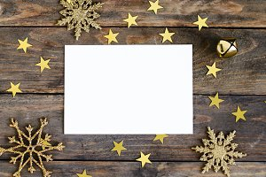 Christmas mock up greeting card