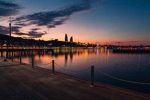 3 photos of Baku boulevard view