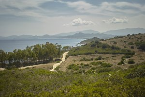 Coastal panorama of the south of sar