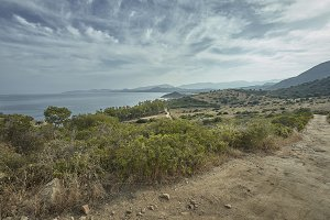 Coastlines of southern Sardinia