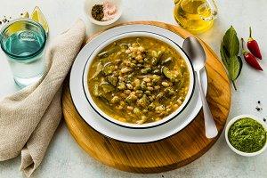 gluten free green minestrone with ca