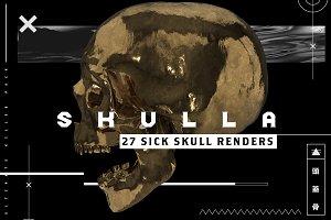 SKULLA- 27 SICK SKULL RENDERS
