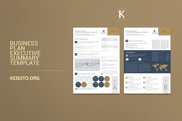 business plan executive summary brochure templates creative market