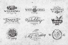 Vintage Wedding Logo Set Vol.1