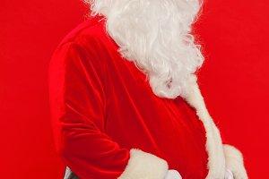 Photo of happy Santa Claus in