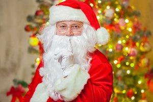 Portrait Santa Claus on background