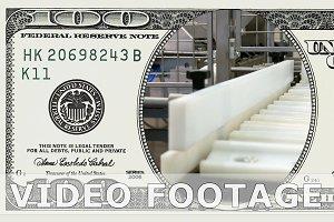 Factory conveyor line in 100 dollar