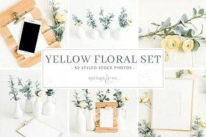 Yellow Floral Stock Photo Bundle