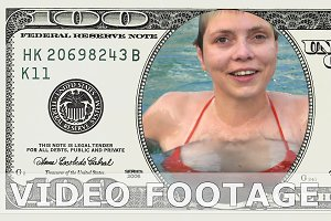 Emerging from water in 100 dollar