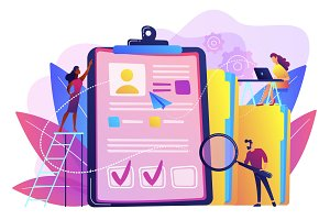 Recruitment agency concept vector